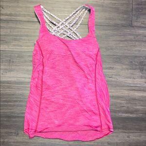 pink lululemon athletic top